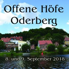 Plakete und Flyer für Offene Höfe Oderberg sind da.