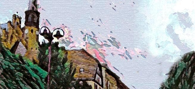 Die Angermünder Straße in Oderberg - ein digitales Bild von Johanna Martin ist in diesem Jahr das Plakat-Motiv.